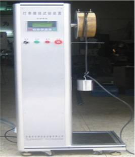 test device suitable for winding a flexible pipe