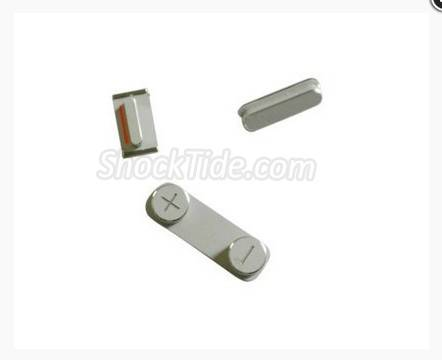 3 in 1 Replacement Power Button + Mute Switch + Volume Rocker Set for iPhone 5 - Silver