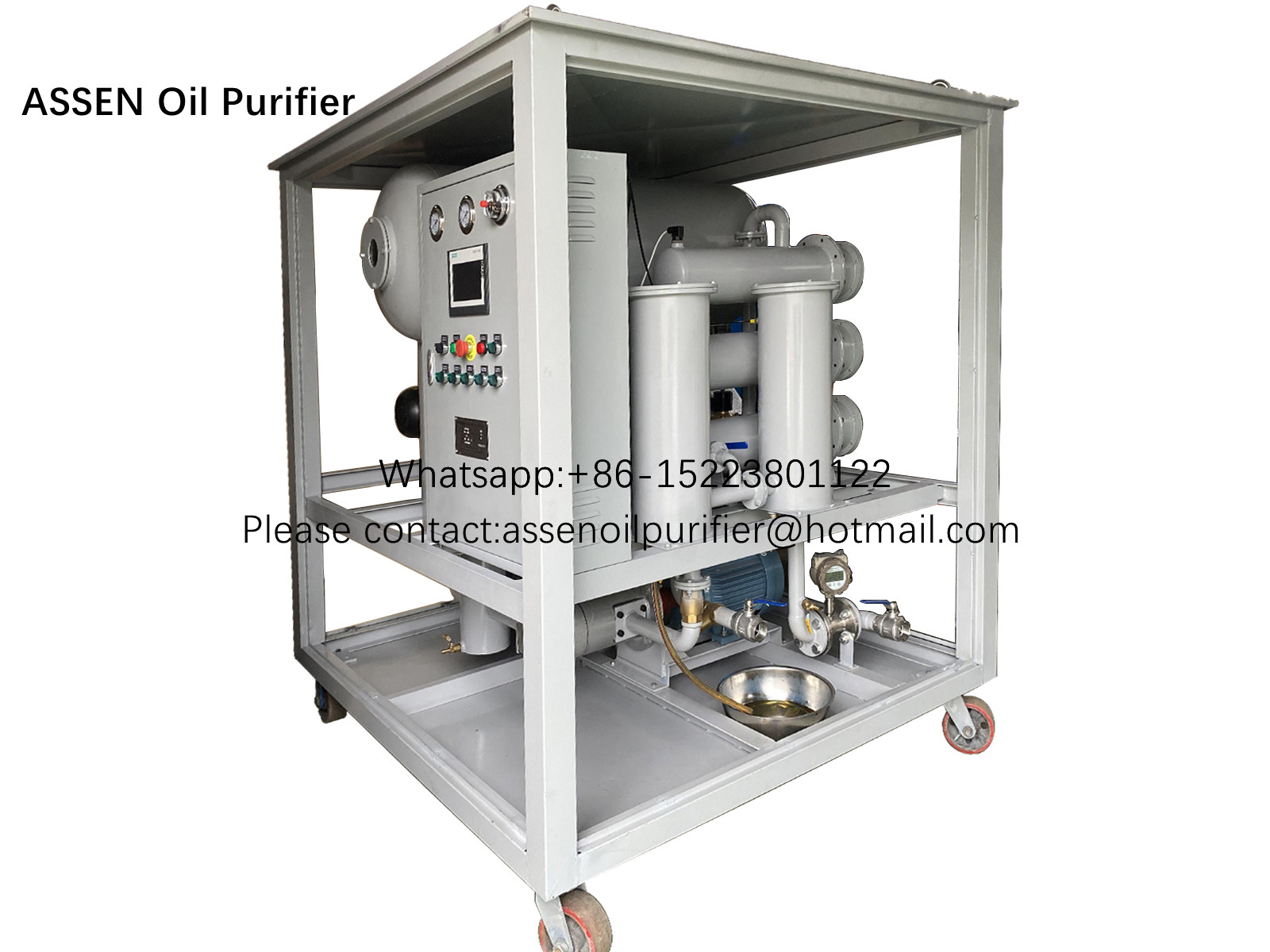 PLC Automatically type Transformer Oil Degassing Machine,Insulating Oil Purifier Machine