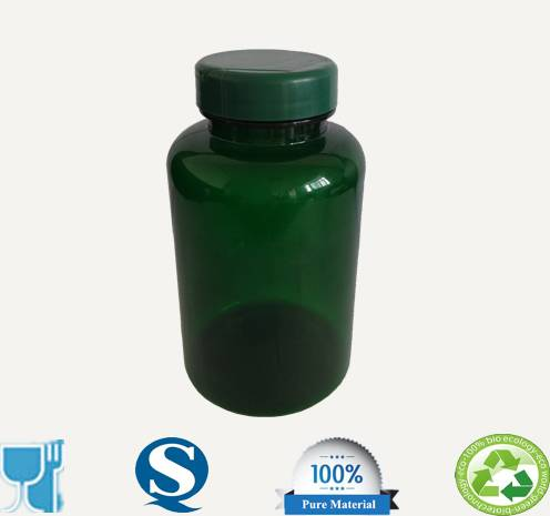 300ml PET plastic medical bottle screw cap empty plastic bottles wholesale