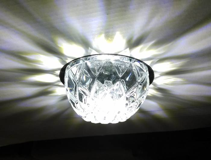 Hot 35W G9 bulb square clear crystal corridor spotlight