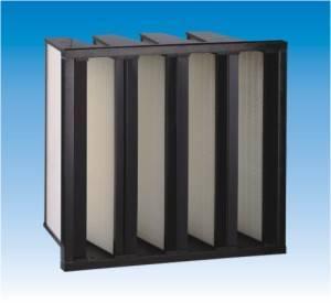 V-bank medium efficiency air Filter