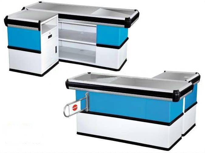 supermarket cash register, checkout counter, checkout table for sale