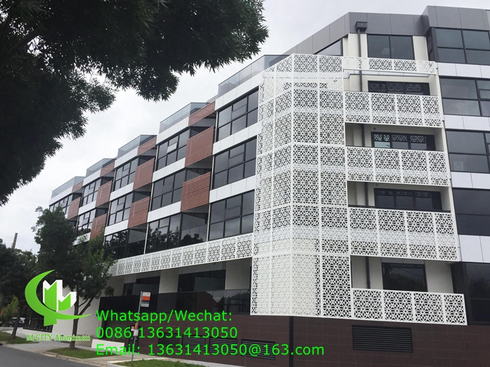 metal aluminum panel for facade covering