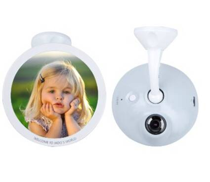 JADO #D750 Baby Mirror Dash Camera + HD 1080P Car DVR Recorder With Safe Driving Lane Departure Warn