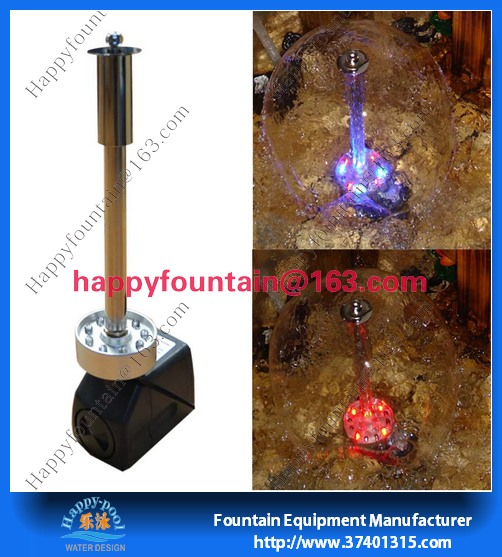 stainless steel or plastic water fountain mushroom nozzle fountain