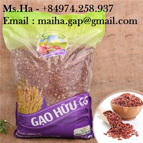 Red Brown Rice Dragon Blood Rice of Viet Nam For Europe Market High Quality