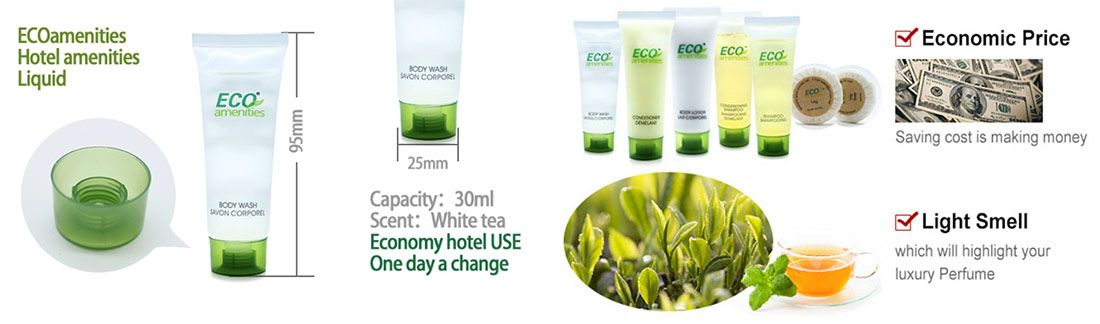 ECO AMENITIES Hotel Body Wash, 30ml/1oz