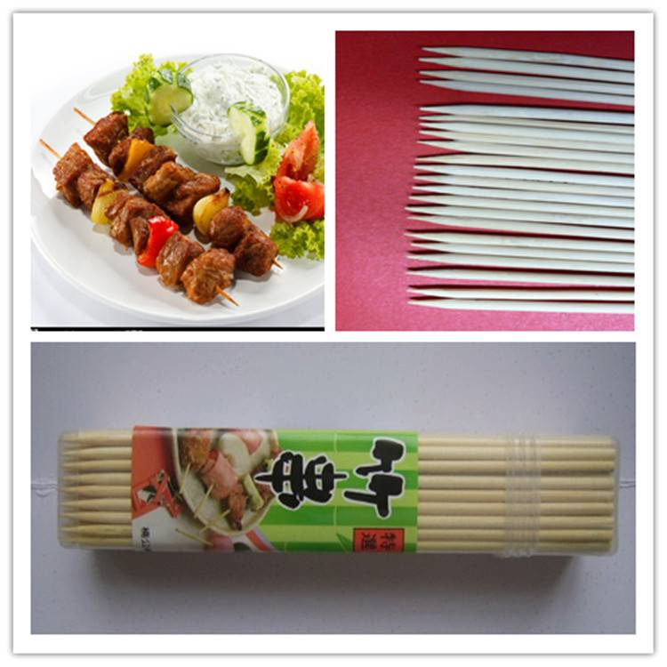 High Quality Exported USA&Europe Country Bamboo &Wooden Skewer