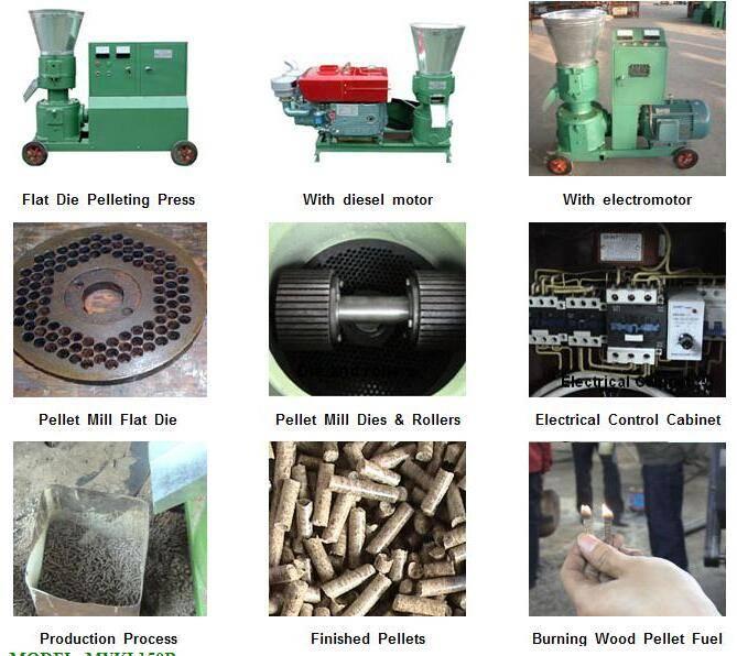 biomass waster flat die pellet mill