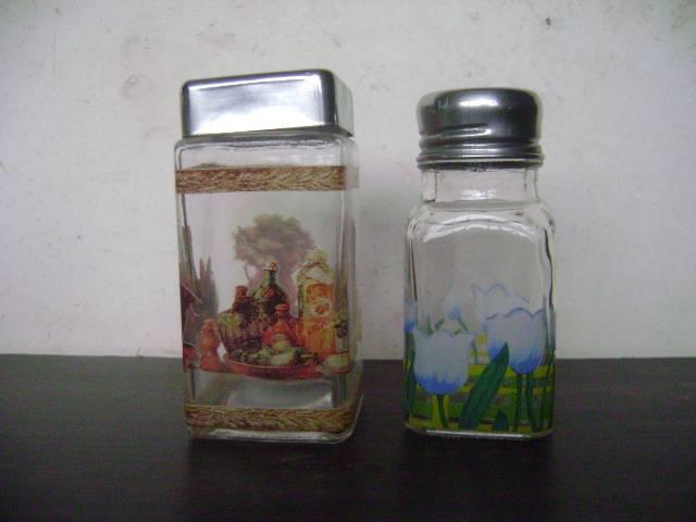 Glass salt & pepper shaker