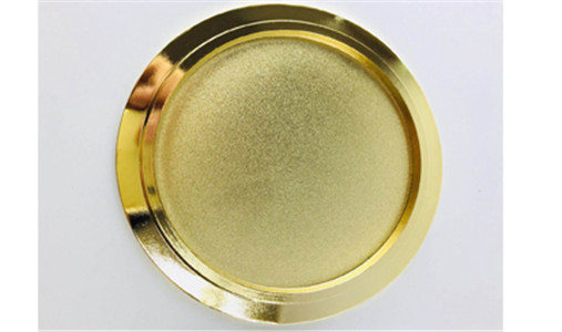 Luxury gold candle lid