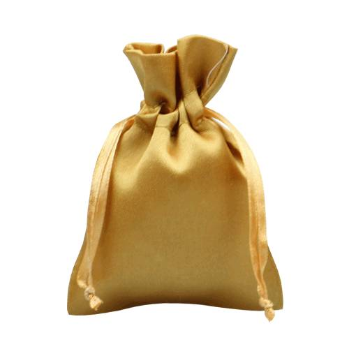 Gold satin packaging bag