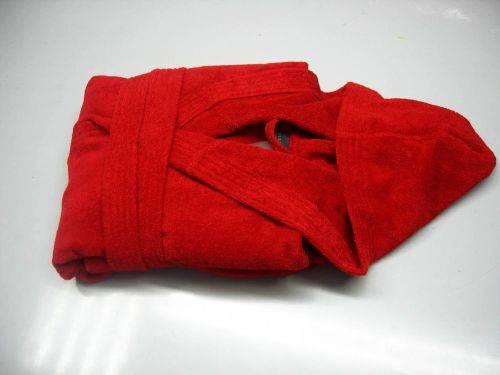 Women's cotton hooded bathrobes