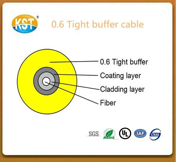 Communication cable optical cable/single-fiber 0.6mm Tight Buffer Cable (GJFJV)