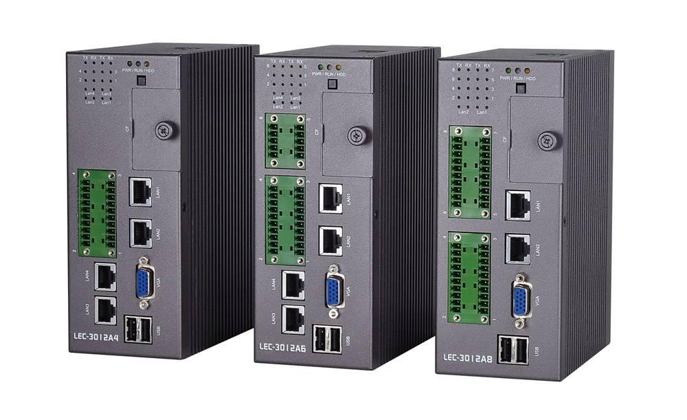 Fanless Industrial DIN Rail Box IPC with Intel® Atom™ N455 CPU