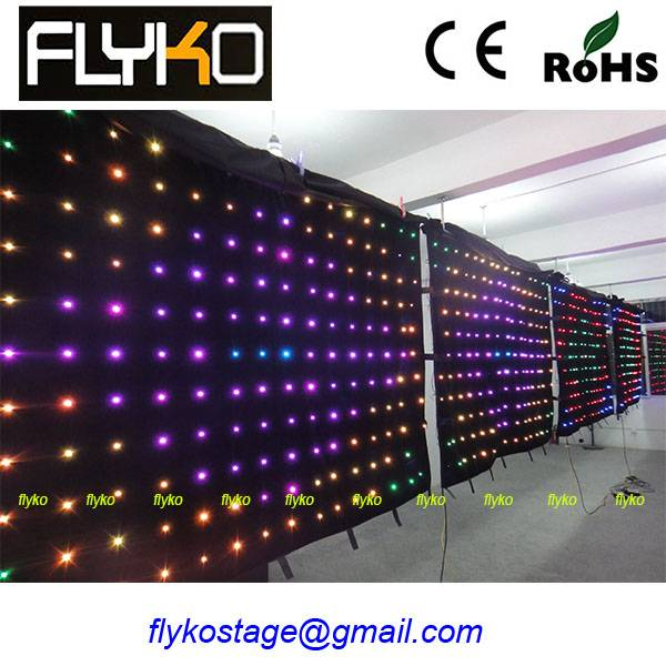HIgh Brightness! led video curtain screen For Stage