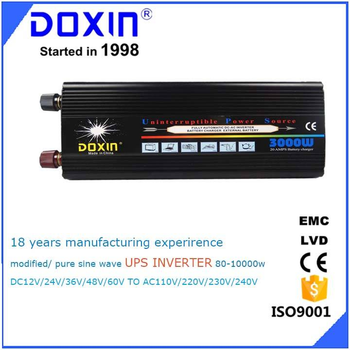 Doxin 3000w solar power inverter ups home use dc12 v ac 220v