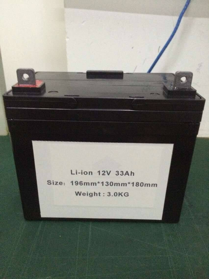 Energy Supply Rechargeable Light Weight 12V 33Ah 396Wh Battery instead of lead-acid battery