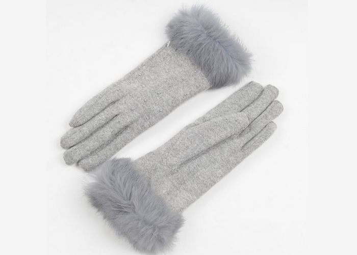 fur woolen cashmere women winter glvoes