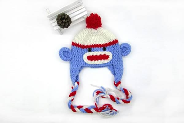 2016 New Design Pure Cotton Hand Crochet Hat for Newborn