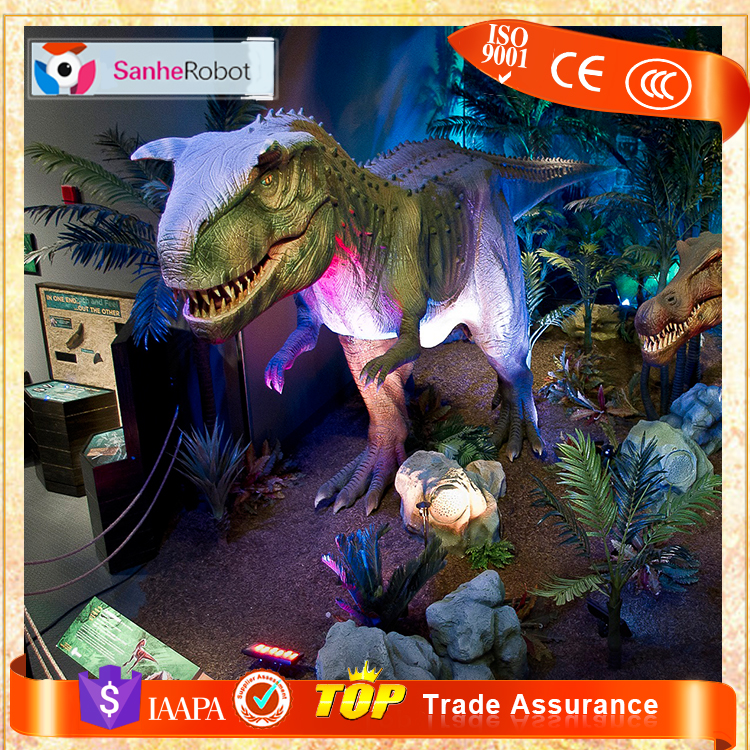 Sanhe Robot 16m Long Inside Exhibition Simulated Mechanical Animatronic Dinosaur