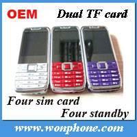 Mini E71 Four Sim Card TV Cell Phone