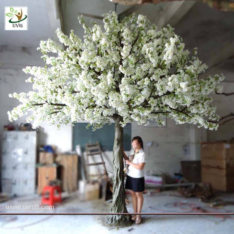 UVG CHR016 wedding favor white cherry blossom tree artificial for party decoration