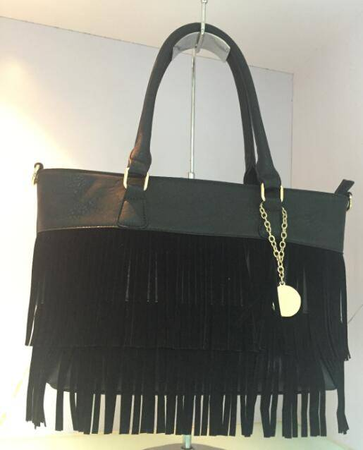 Selina Camille Fringe tote Bag