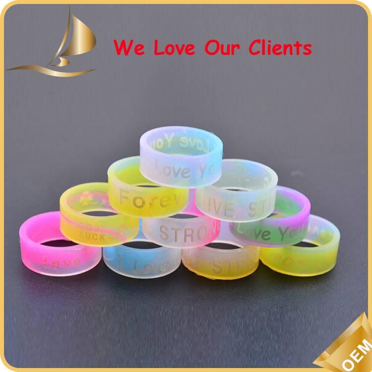 Custom Silicone Finger Rings