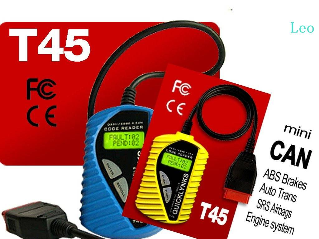 OBDII/EOBD VAG Transmission Code Reader Trouble Code Diagnose Tool T45,abs,airbag,engine,trans code