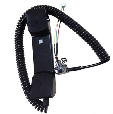 payphone handset with armoured cord metal tube