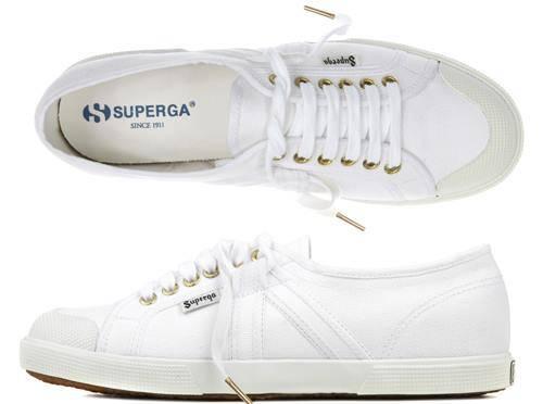 White Superga Canvas Vulcanized Shoes (2750)