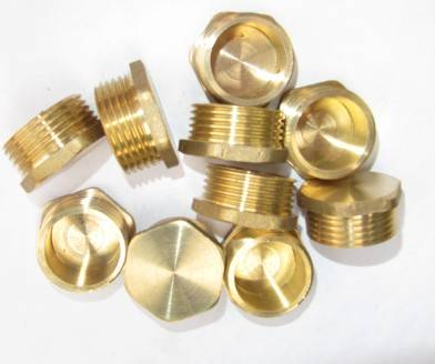 Brass Hex Male Plug