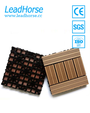 DIY WPC interlocking composite decking tiles