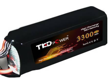 TKD li-ion lithium polymer battery 3300mAh 35C 22.2V 6S Lipo battery rechargable