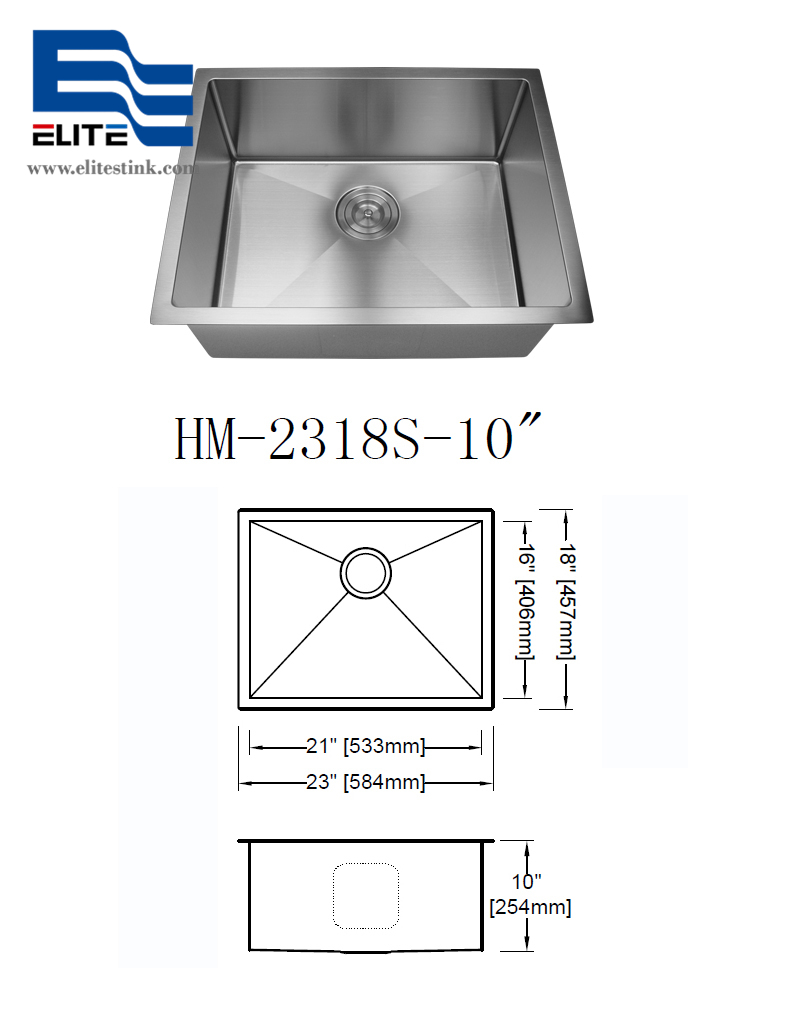 Handmade Sink Kitchen Stainless Steel Sink manufacturer