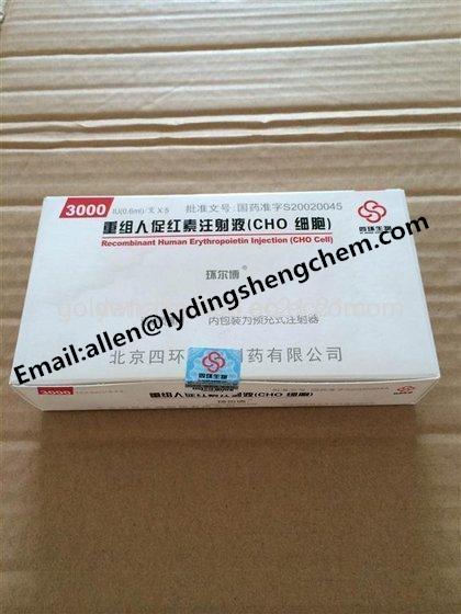 EPO Erythropoietin supplier,3000iu/Vial,5Vials/kit, Human Growth Hormone Supplements EPO or Injectio