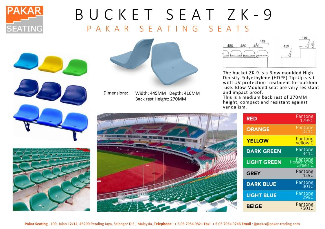STADIUM BUCKET SEAT ZK-9
