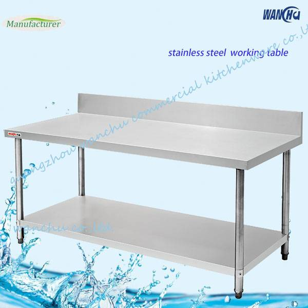 Double Layer Stainless Steel Work Table
