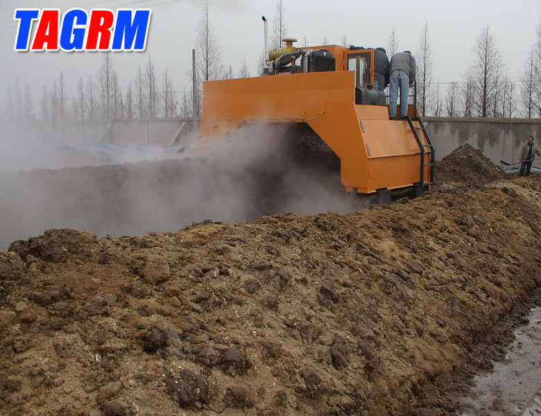 Open air windrow compost machine M3200II windrow composting machine