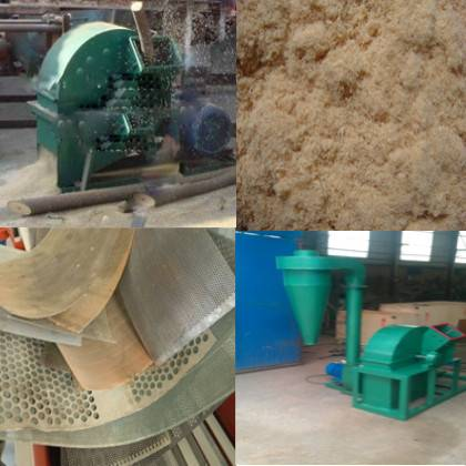 Approved capacity wood crusher machine for sale