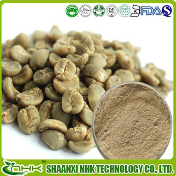 100% Natural pure Green Coffee Bean Extract with 50% Chlorogenic acid