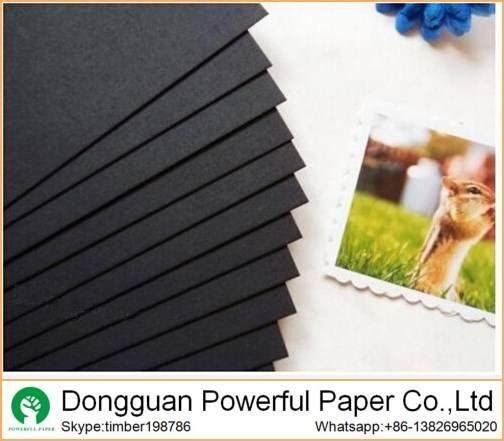 200g 300g 400g Recycled black paperboard