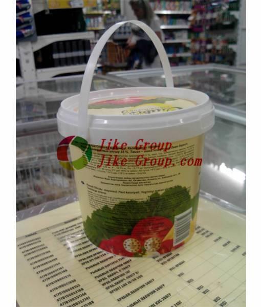 Food grade 1 gallon clear Plastic pail Bucket dutch buckets plastic ice cream bucket
