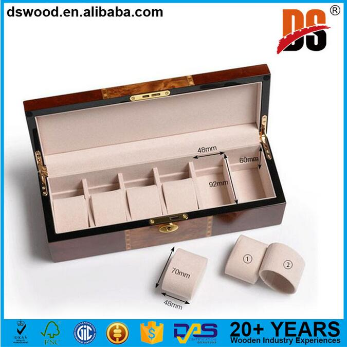 brown luxury wood watch boxes