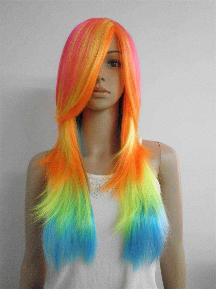 Party wigs with fency colors LQP-KL642 from E&A wig