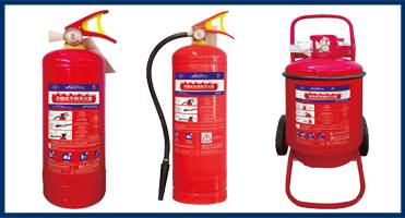 ABC wheeled dry powder fire extinguisher