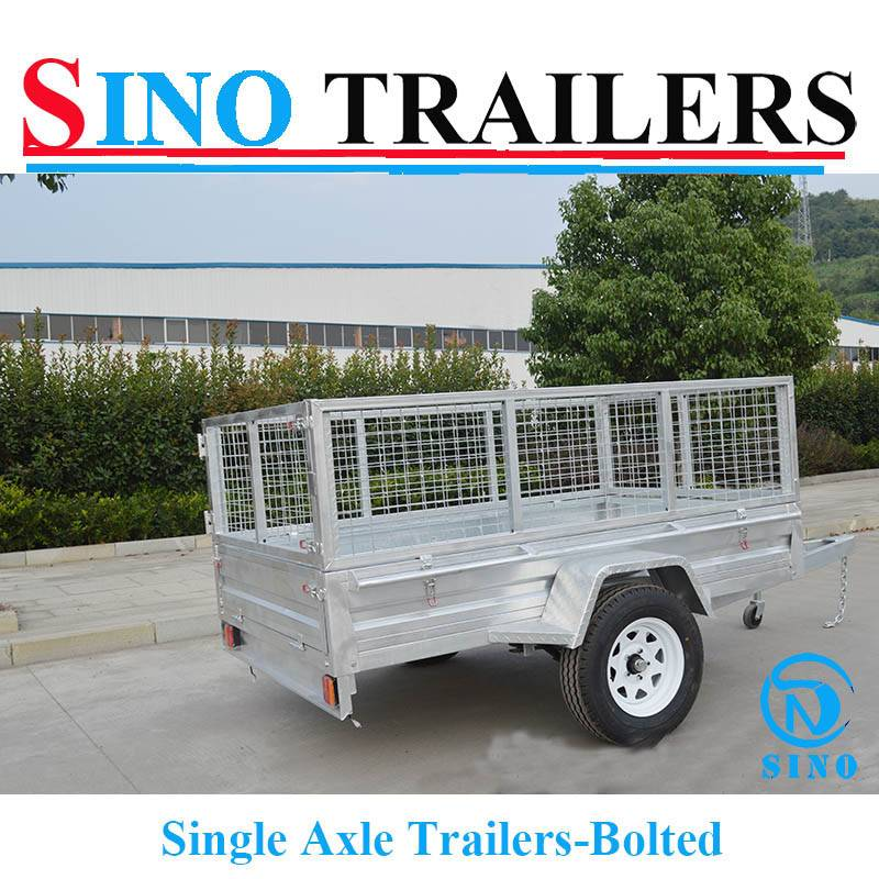 General Purpose Builders Trailers 7X4 FT Single Axle Trailers
