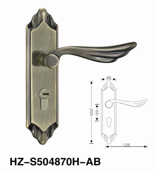 SS304 door handle lock lever handle room lock